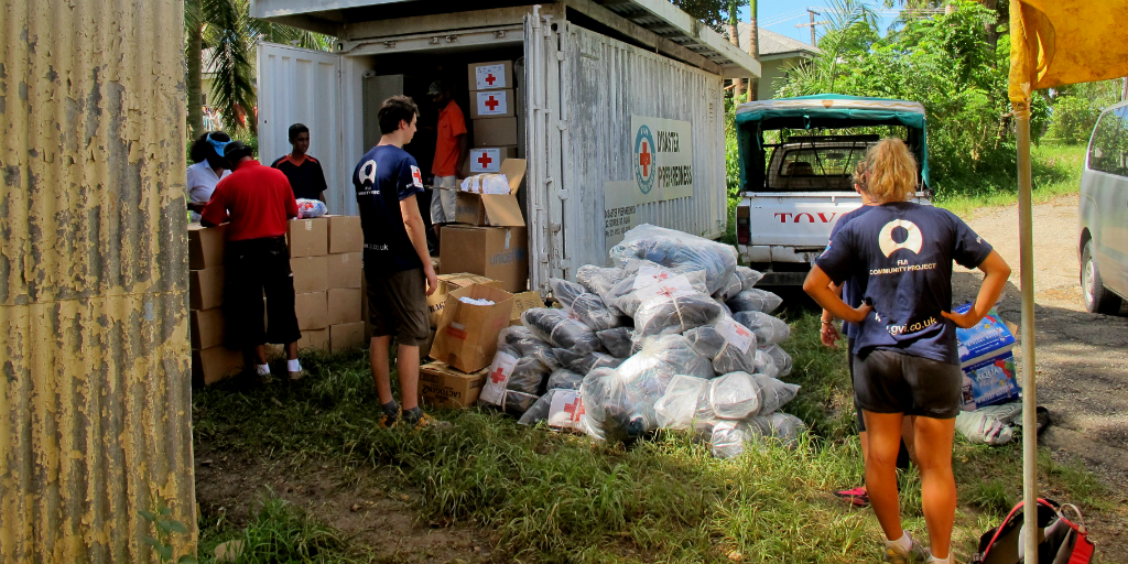 Volunteers working towards improved public health in a Fiji community