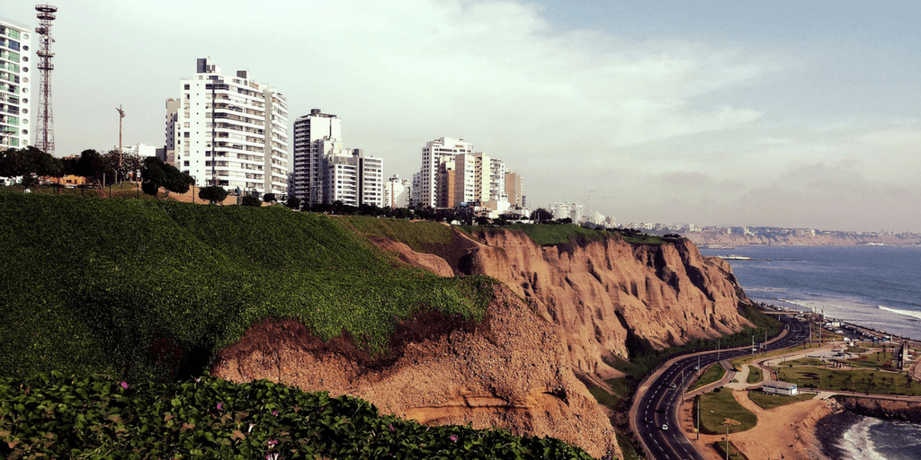 Things to do in lima include seeing the the ochre cliffs