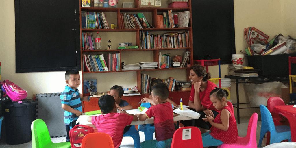Volunteer on a gap year language program.