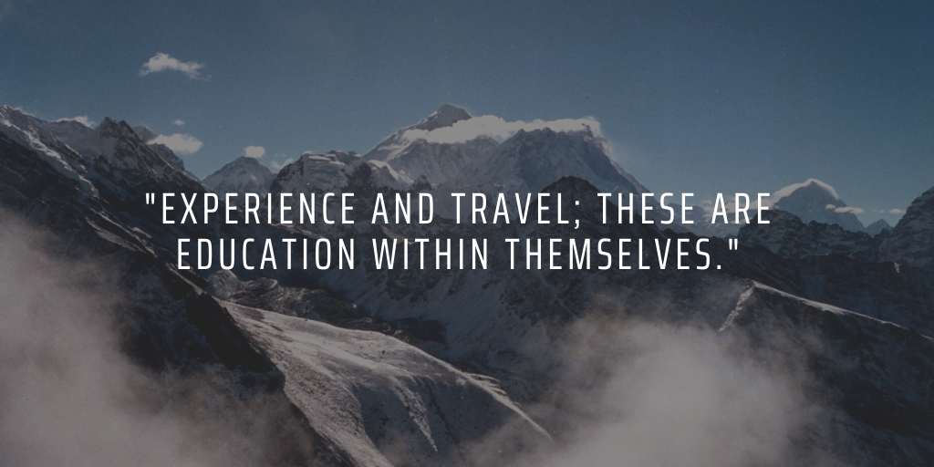 Volunteering and travelling abroad can teach you may important life lessons