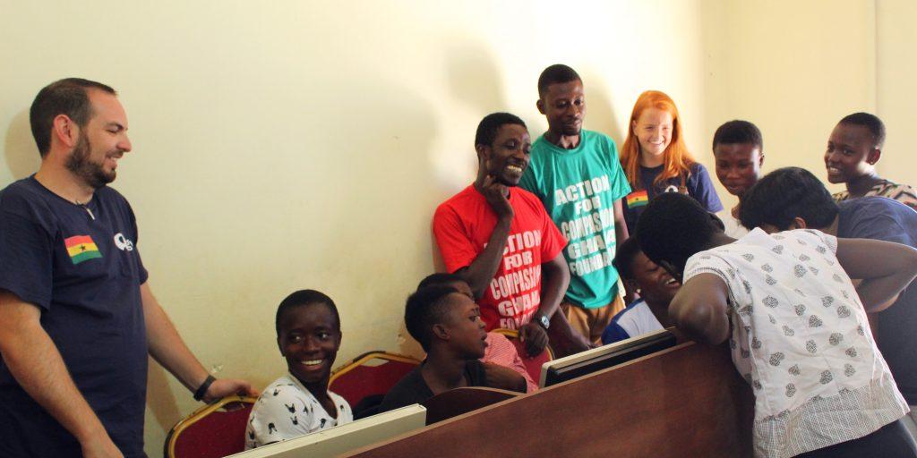 Volunteer in Ghana.