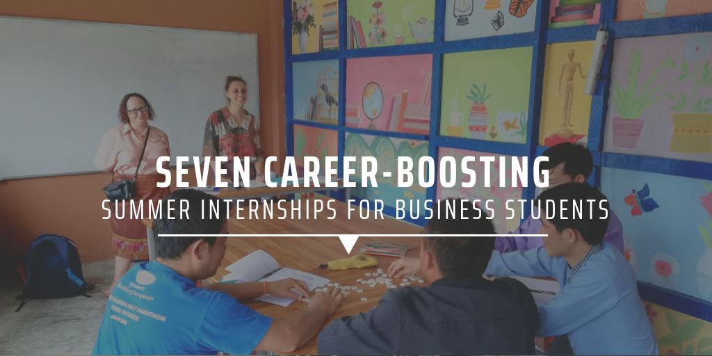 summer internships for business students