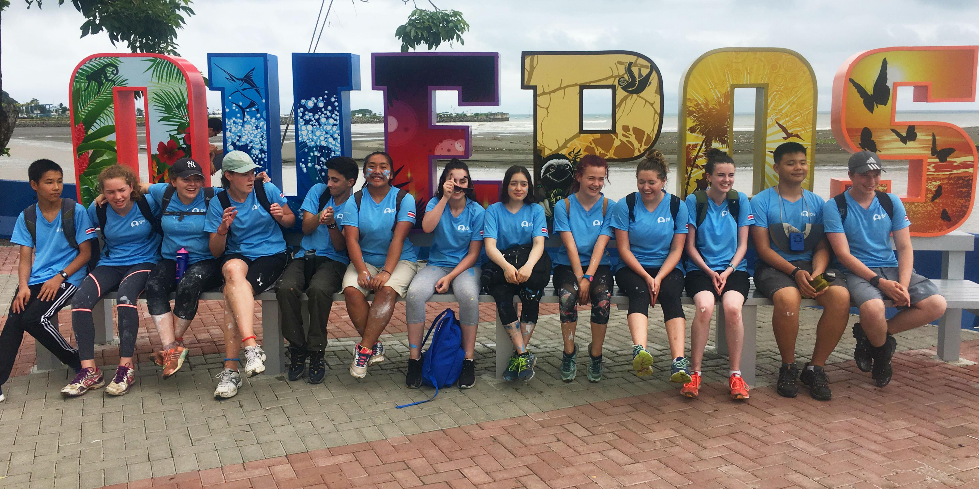 GVI participants in Quepos take part in a volunteering for teens program.