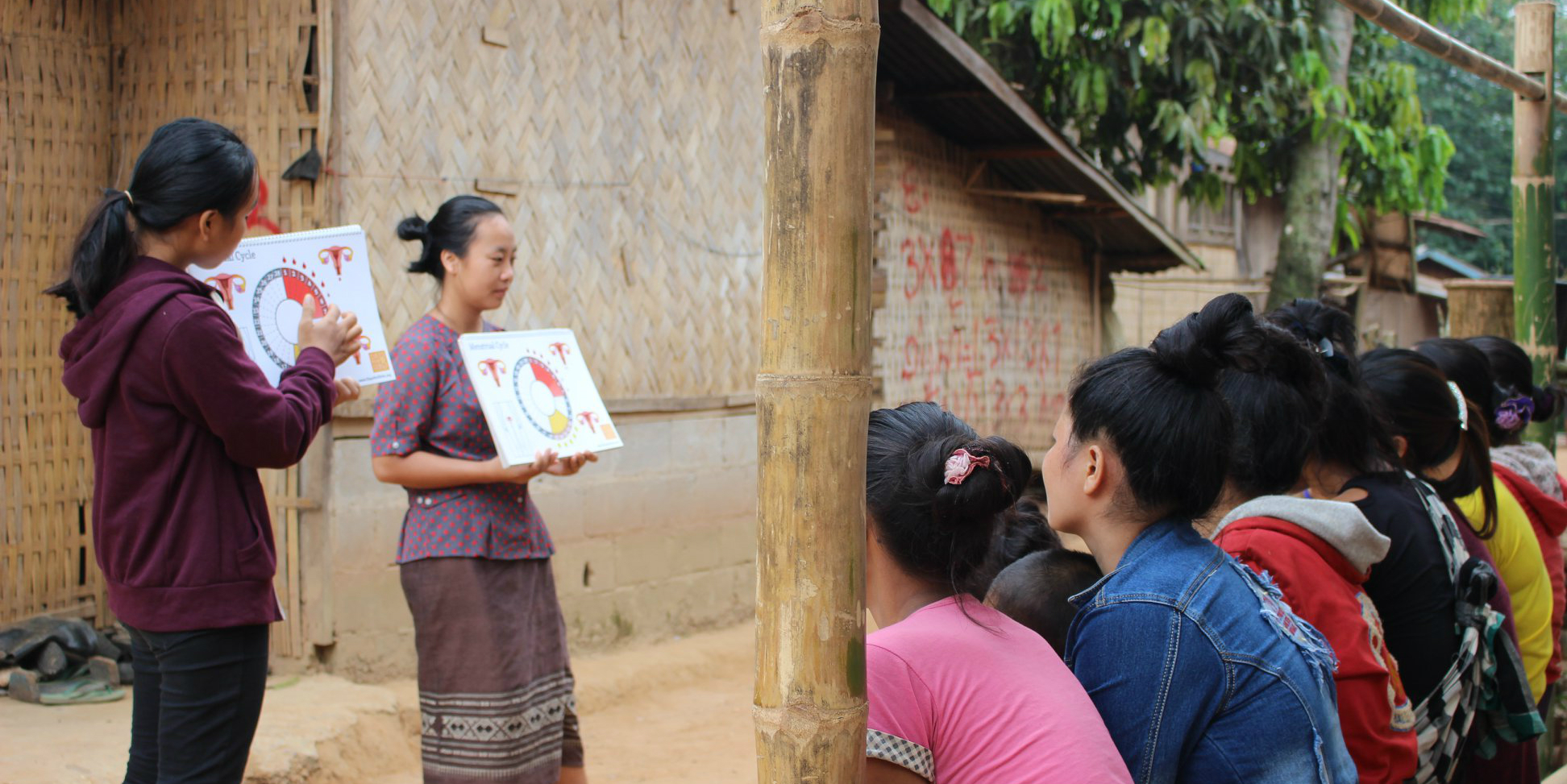 Local women lead a session on menstrual health education in Laos   donate or volunteer
