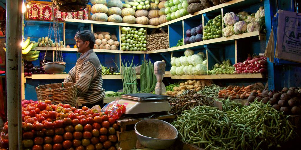 Travelling in India includes a huge variety of Indian street food and beautiful markets.