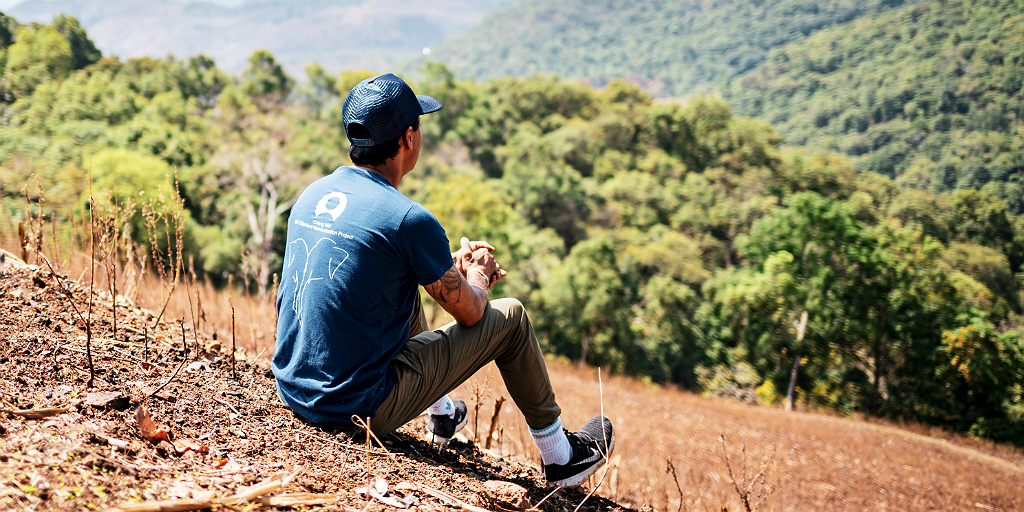 gvi volunteer on a hill in thailand