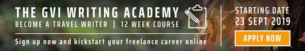 GVI Writing Academy Banner