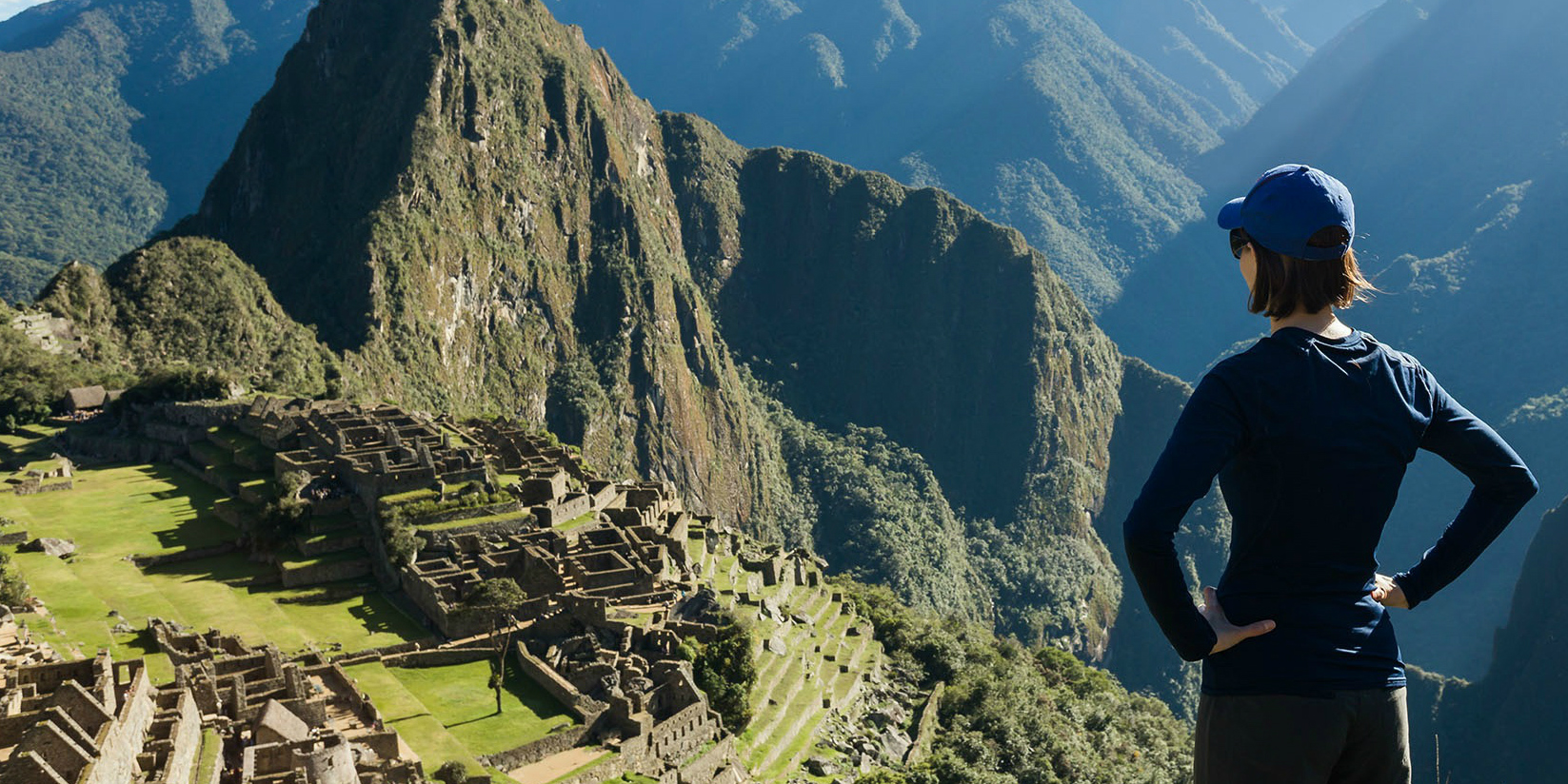 A GVI participant enjoys the view of Machu Picchu while taking a gap year.