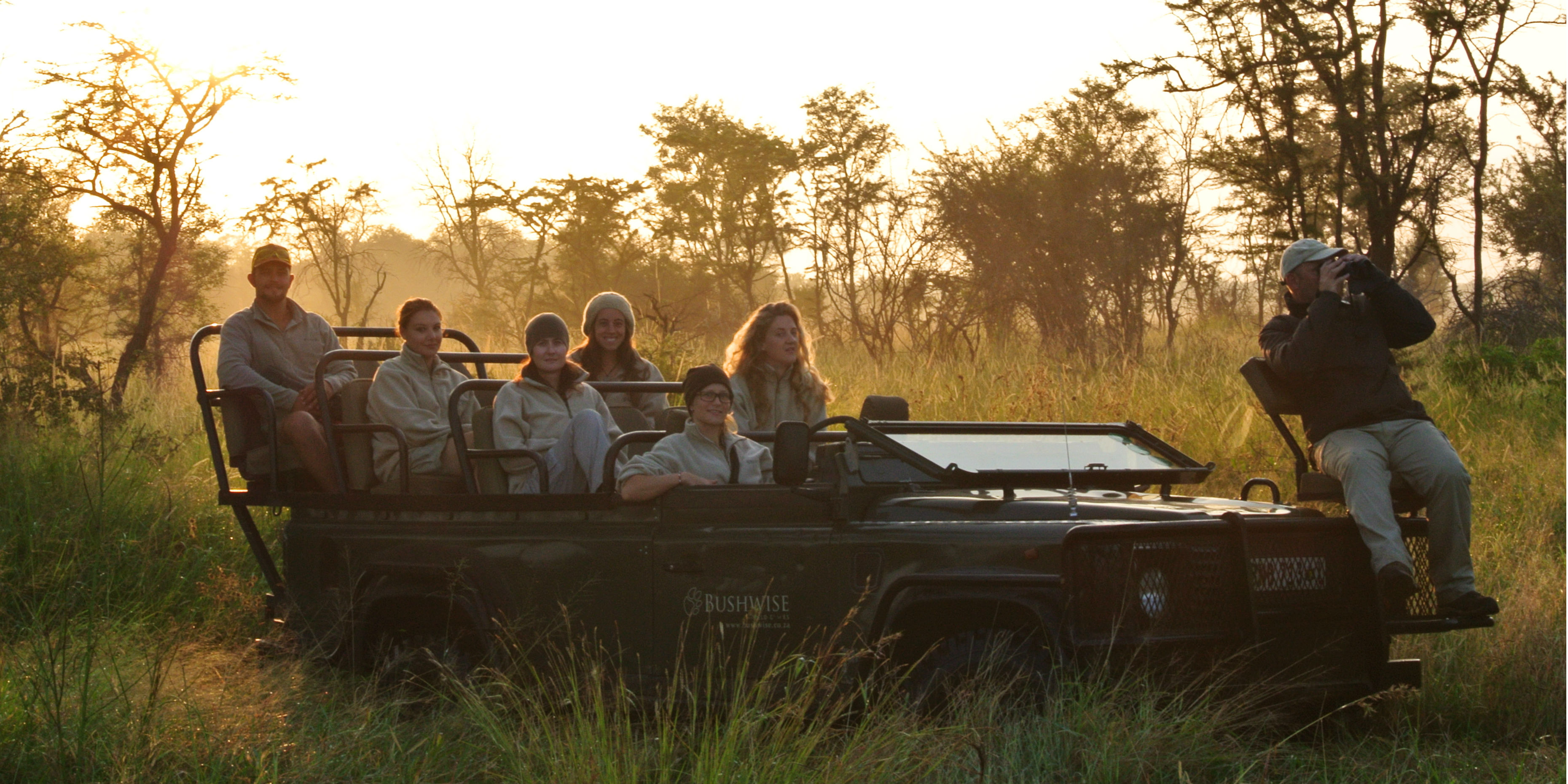 Participants enjoy a game drive while taking a gap year.
