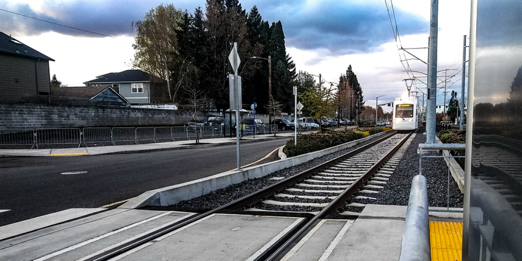Portland is environmentally friendly by relying on public transport to cut down individual motor vehicle use.