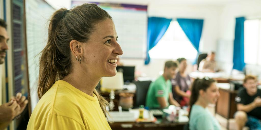 Smile often when you volunteer in Thailand