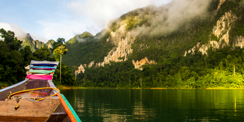 Go on a kayak adventure in the Khao Sok National Park