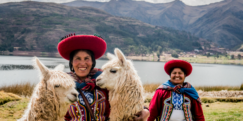 Inca women in Cusco