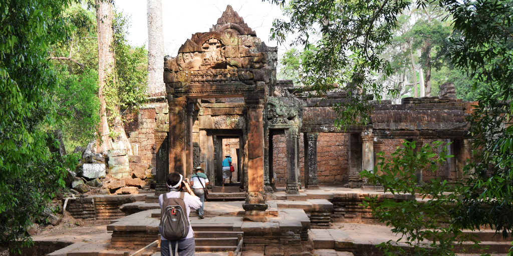 Visit the Angkor Wat temple famous for being in the popular Tomb Raidar movies