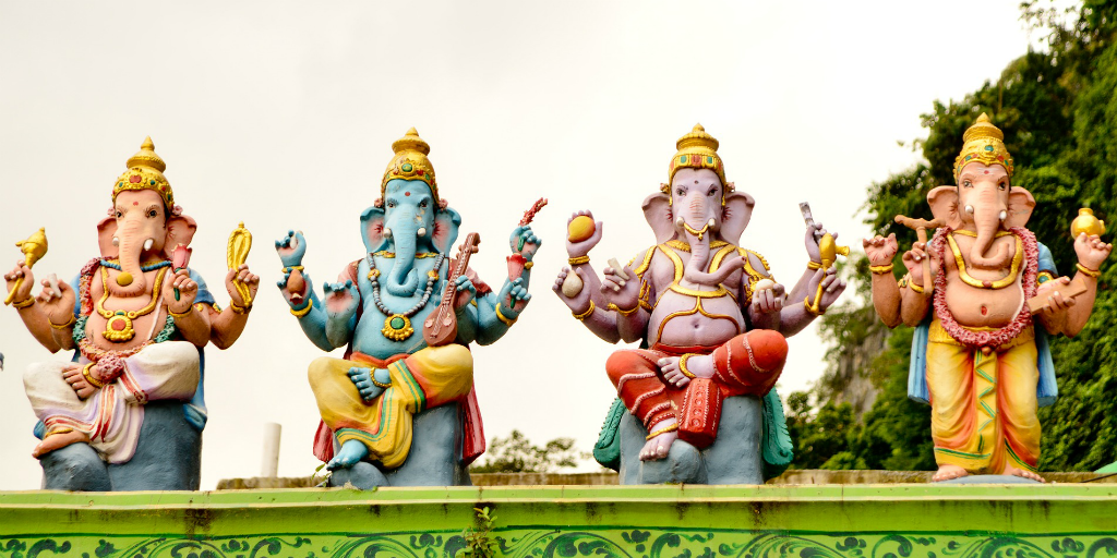 Hindu shrines are part of Indian religion and culture.
