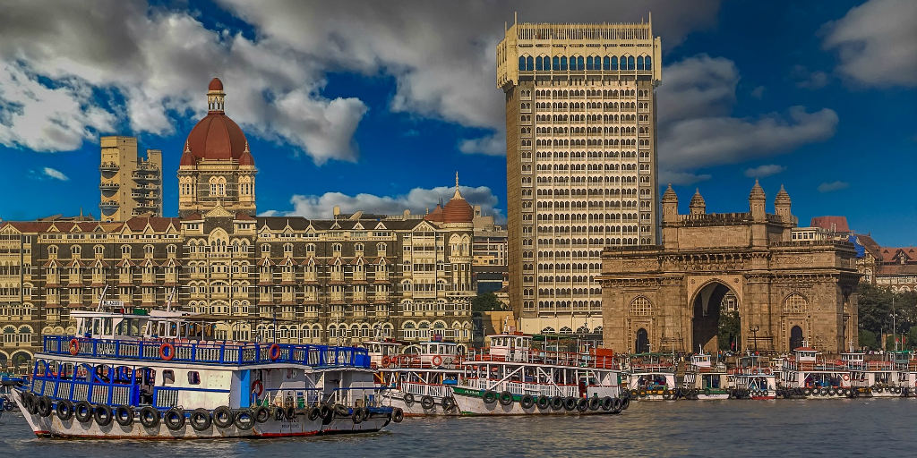 I went to Mumbai on my trip to India.