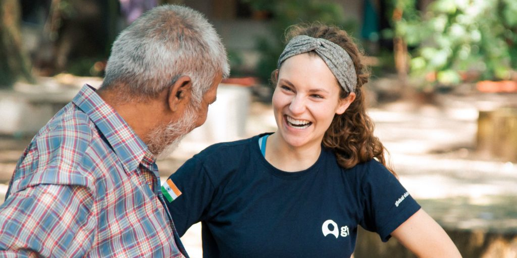 When volunteers work together with local community members it ensures that an impact is sustainable